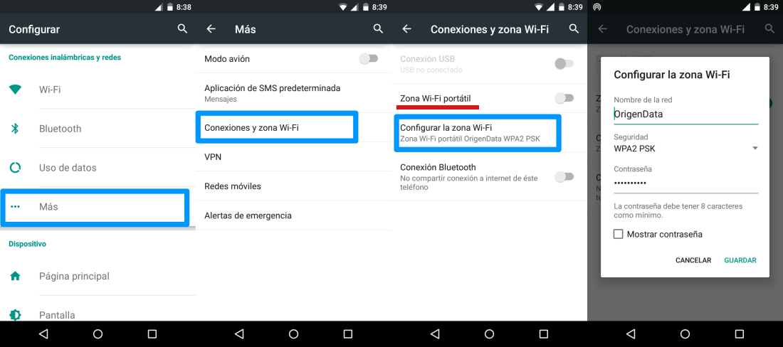 Creando un Access Point en Android